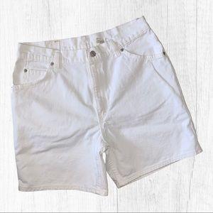 Vintage Levi's 950 White High Rise Mom Shorts 14